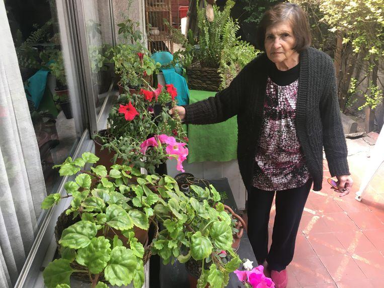 De pensionada Ana Salcedo Vidal. Beeld Kees Broere