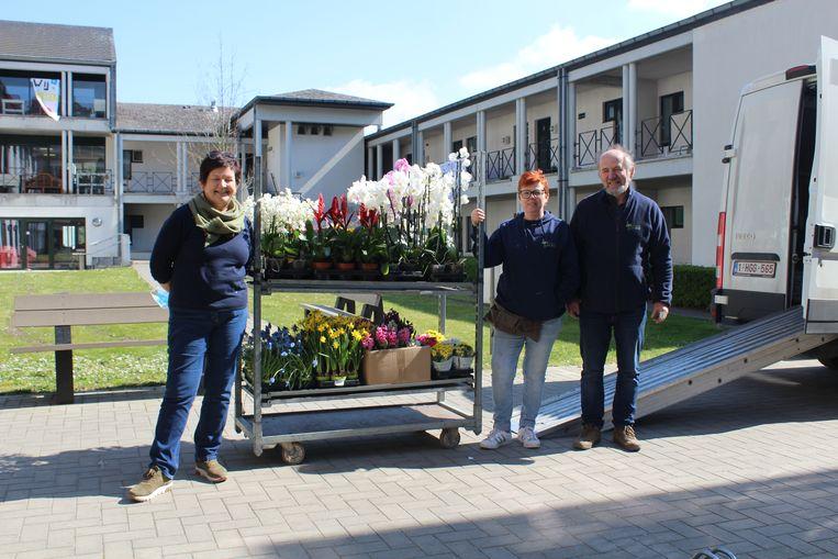 Woonzorgcentrum Eyckenborch was heel tevreden met de schenking.
