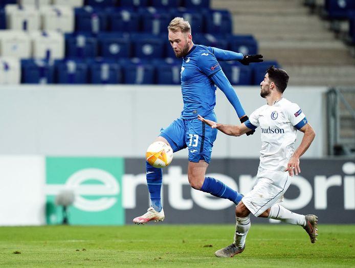 Joao Klauss (à gauche) contre La Gantoise en Europa League.