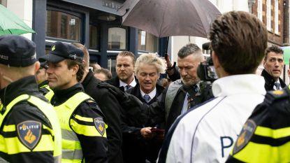 Man opgepakt vlak voor flyeractie van Geert Wilders