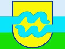 Golvende vlag van Drutenaar Wim Hendriks is de vlag van Maas en Waal