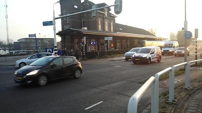 De Zwolseweg voor station Kampen.