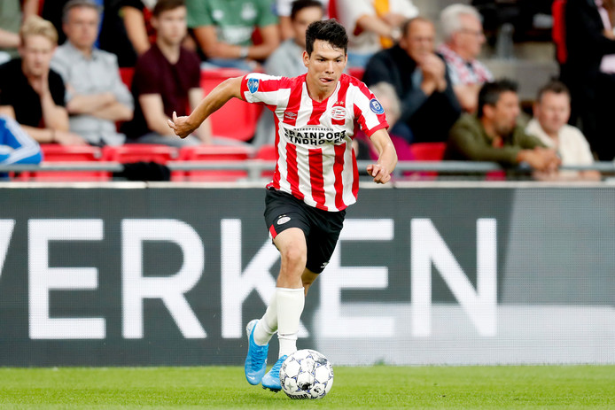 Hirving Lozano tijdens PSV-ADO.