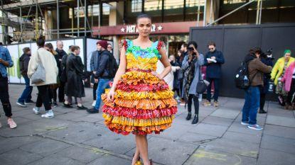 De meest extravagante looks op straat tijdens London Fashion Week