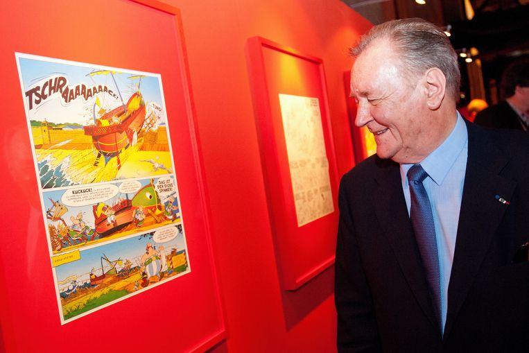 Albert Uderzo op een Duitse tentoonstelling 'Asterix en de Kelten' in 2012.