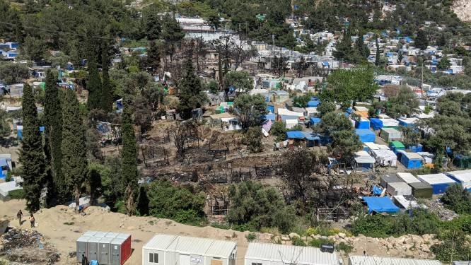 Brand nabij vluchtelingenkamp op Griekse eiland Samos