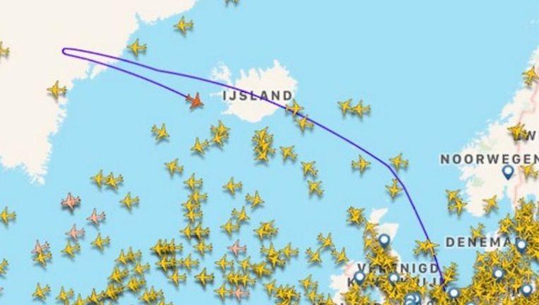 Het vliegtuig, vlucht KL601, was onderweg naar Los Angeles. Beeld Twitter John van der Tol