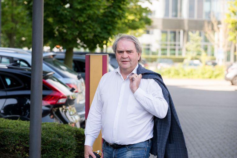 Pro League-CEO Pierre François bij aankomst aan het Crowne Plaza Hotel in Zaventem voor de Algemene Vergadering.