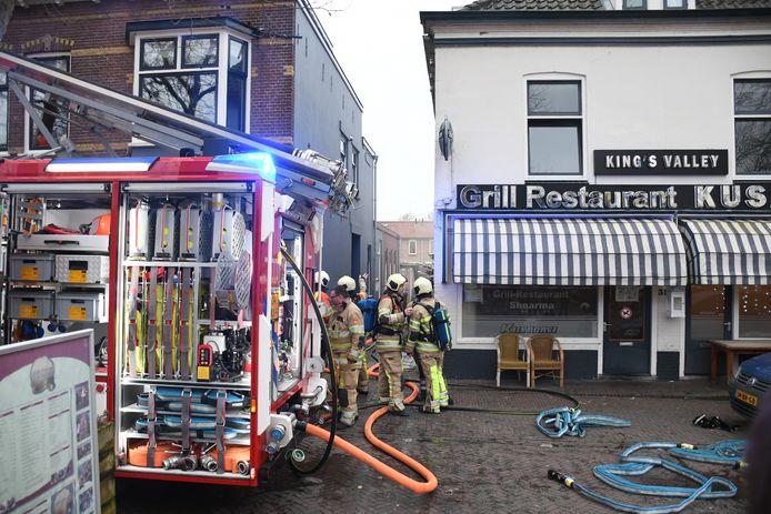 De brand in Vreeswijk brak uit in de keuken van het grillrestaurant.