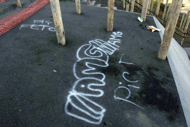 De haatboodschap in graffiti op de Avonturenberg is gericht tegen aanhangers van de Gülen-beweging.