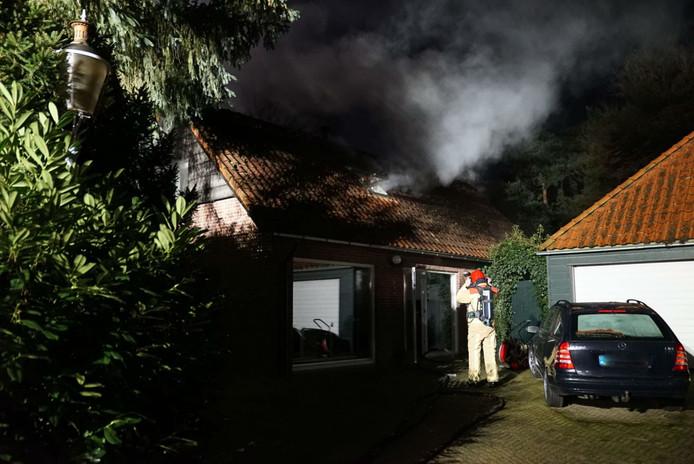 Brand bij sauna in Waalre