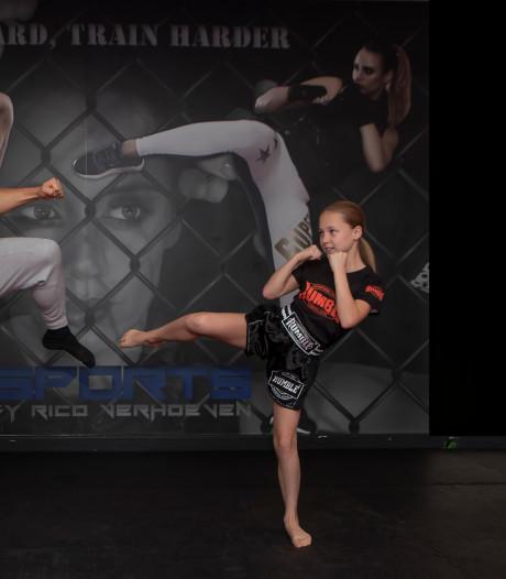 Opvolgster Rico Verhoeven komt eraan: Ruby de Bont (11) uit Moerstraten wereldkampioen kickboksen