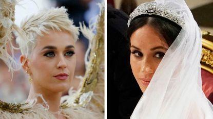 """Katy Perry uit kritiek op trouwjurk Meghan Markle: """"Ik zou nog een passessie hebben ingelast"""""""