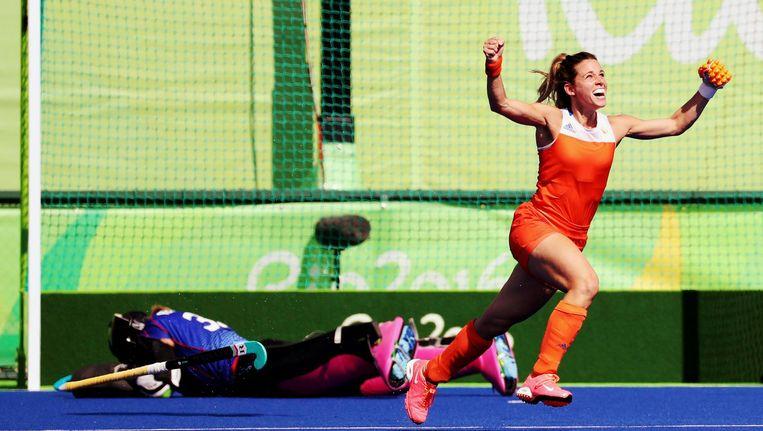 Ellen Hoog schiet Nederland naar olympische finale Beeld REUTERS