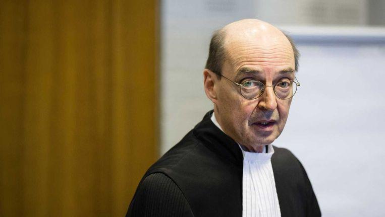 Advocaat Albert Jan van den Berg voor aanvang van de bodemprocedure van de Russische Federatie tegen Yukos Universal. Van den Berg vertegenwoordigt de Russische president Poetin in deze zaak. Beeld anp