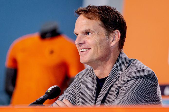 Frank de Boer werd vorige week aangesteld als nieuwe bondscoach van Oranje.