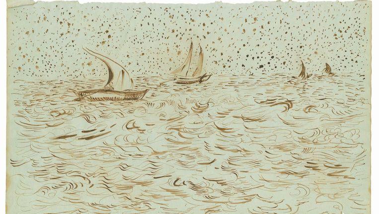 Boten op zee, Saintes-Maries-de-la-Mer 30 mei ¿ 3 juni 1888, Saintes-Maries-de-la-Mer Beeld null