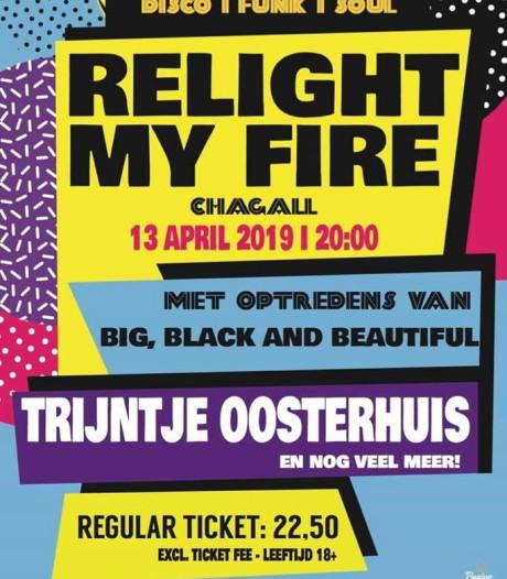Muziekfestival Relight my Fire in Roosendaal verplaatst naar Chagall