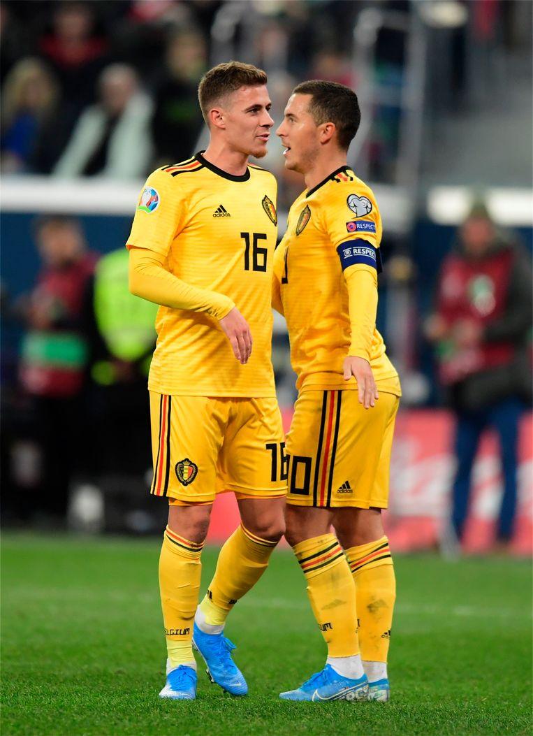Thorgan en Eden Hazard.