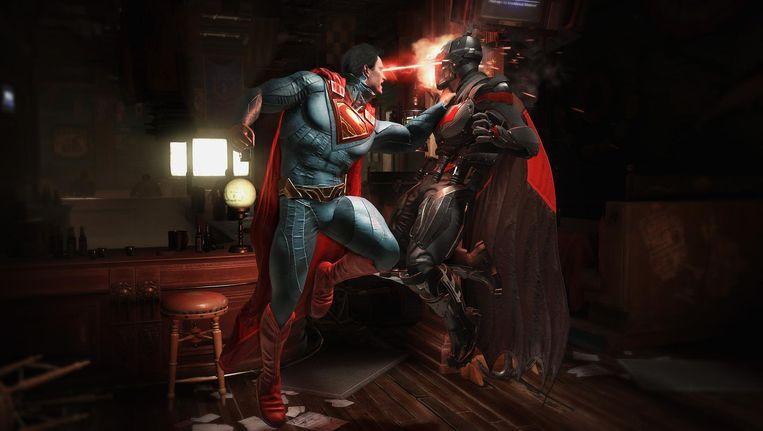 'Kijk eens in de poppetjes van mijn ogen...': Superman van het rechte pad in Injustice 2. Beeld NetherRealm