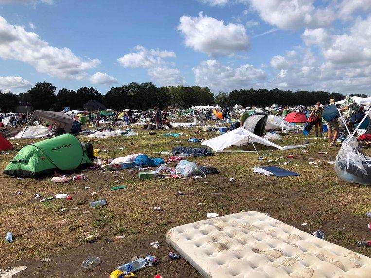 De camping is een stort, maar volgens Pukkelpop elk jaar minder erg.