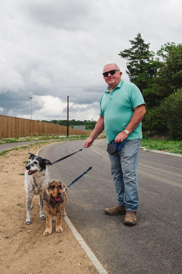 Barry met zijn honden: 'Wat doe je ertegen?' Beeld Carlotta Cardana
