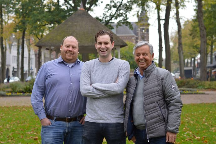 De organisatoren van Oisterwijk Winter Village (vlnr): Mike, Michels, Mark Verwey en Harrie Marsé