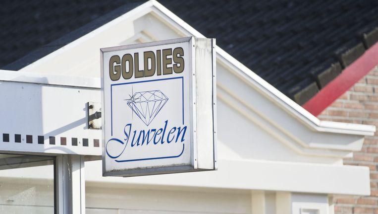 Het pand van juwelier Goldies. Beeld anp