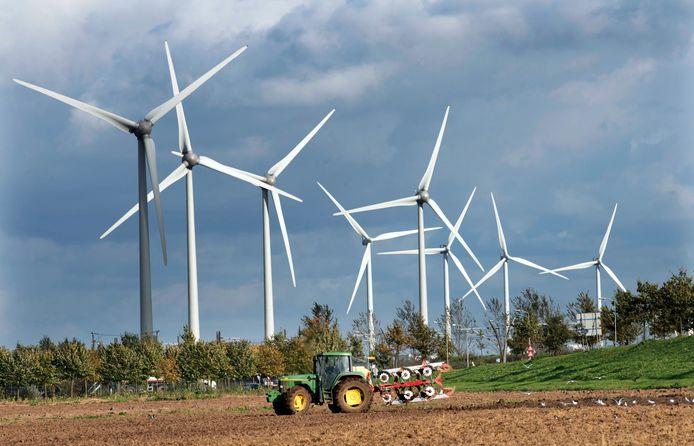 Windmolens. Foto ter illustratie.