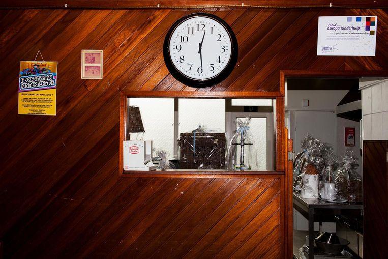 De kantine van de speeltuin in de Dordrechtse wijk Zeehavenkwartier. Beeld null