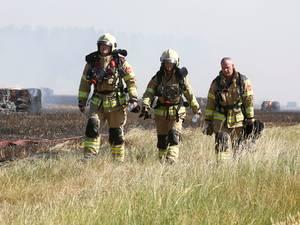 Brandende prairies rond Breskens