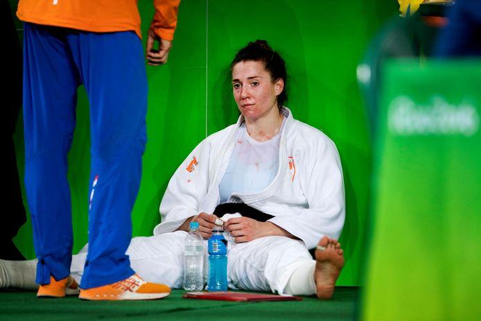 Judoka Marhinde Verkerk in 2016 in Rio. Ook zij weet niet hoe ze zich nu kan kwalificeren.