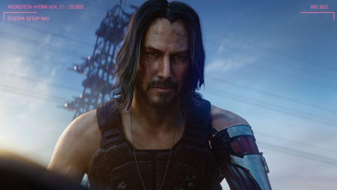 Keanu Reeves in 'Cyberpunk 2077'.