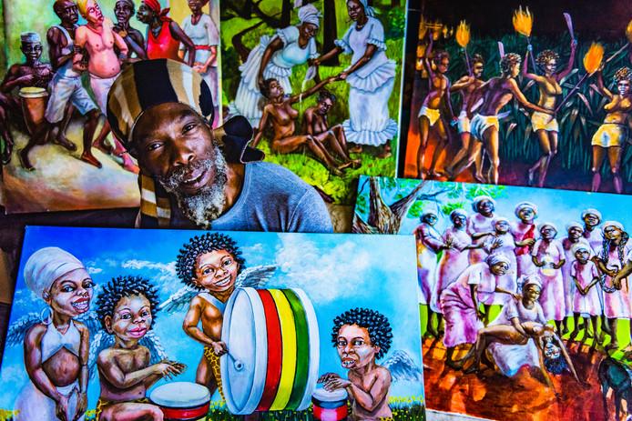 kunstenaar Ras Elijah   Eind september is het Ganeshaa-festival in Zoetermeer afgelast vanwege het weer- en ook vanwege dreiging. Achteraf blijkt de oorzaak bij de kunstwerken van Ras Elijah te liggen. De bibliotheek haalde de schilderijen van deze bijzondere Haagse kunstenaar uit het festival en dit zorgde voor ophef.