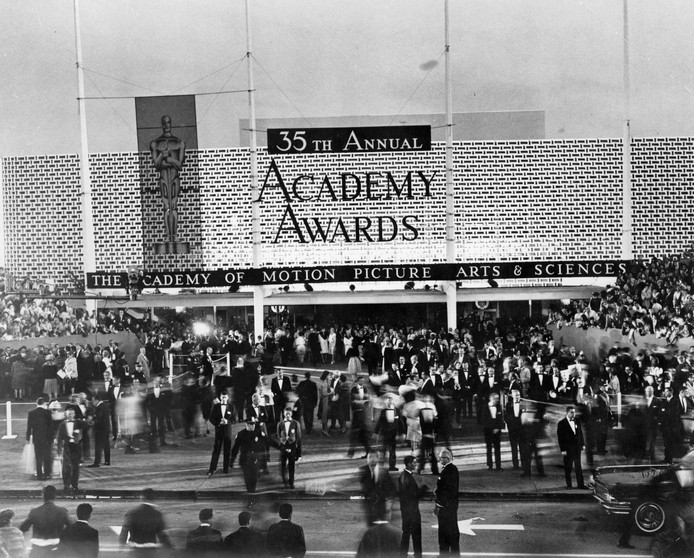 Foto van de Oscar-uitreiking in 1963