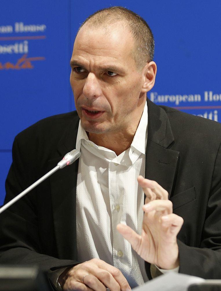 De Griekse minister van financiën Yanis Varoufakis Beeld ap