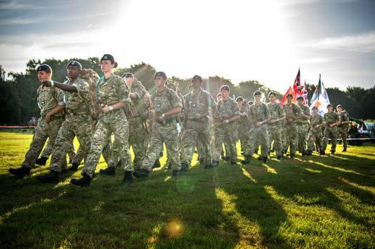 Militairen tijdens de Vierdaagse.