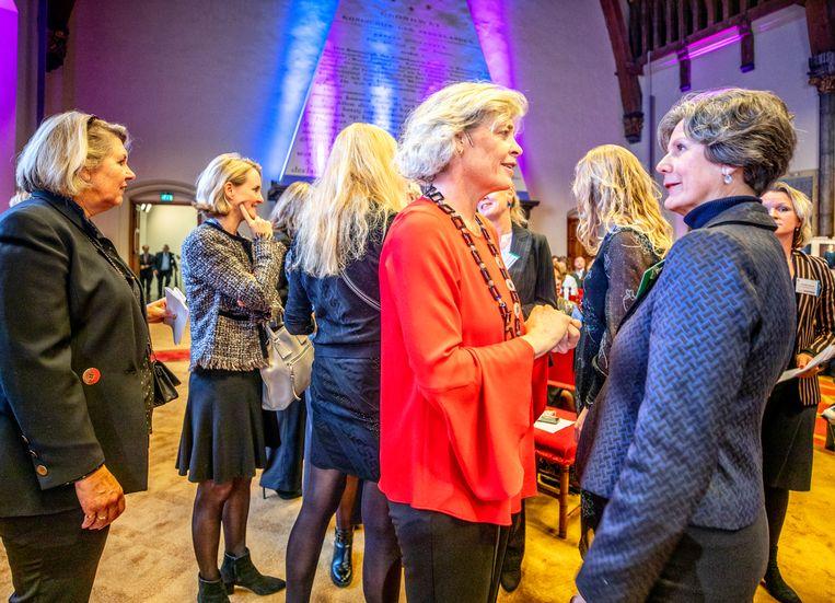 Bijeenkomst van topvrouwen in de Haagse Ridderzaal. Beeld Raymond Rutting / de Volkskrant