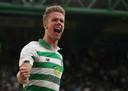 Ajer in het shirt van Celtic.
