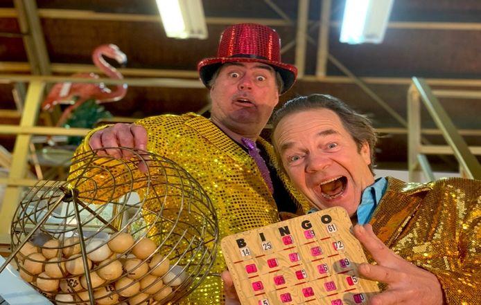 De presentatie van de 033 Bingo op Oudejaarsavond is in handen van  Ton de Kruijf (links) van Nul33 en Peter Rip.