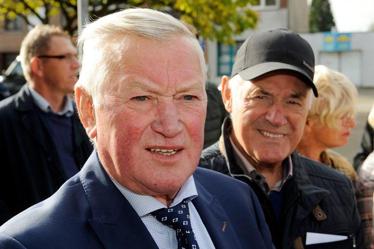 Frans Mintjens (links), ex-ploegmaat van Frans Van Looy.