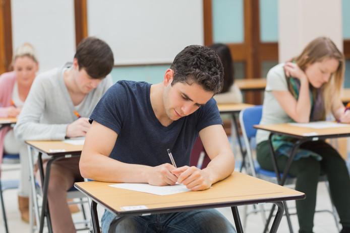 Leerlingen school examens
