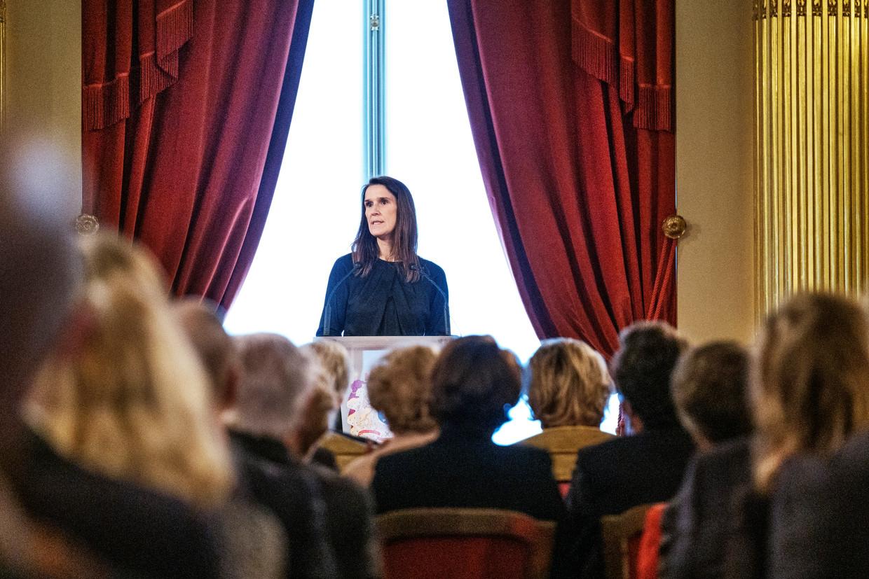 Ontslagnemend premier Sophie Wilmès (MR)
