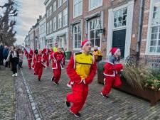 Onstuimige eerste Santa Run in Geertruidenberg