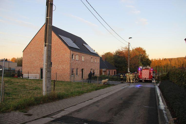 De brand brak uit in een huis in de Heirwegstraat in Schorisse.