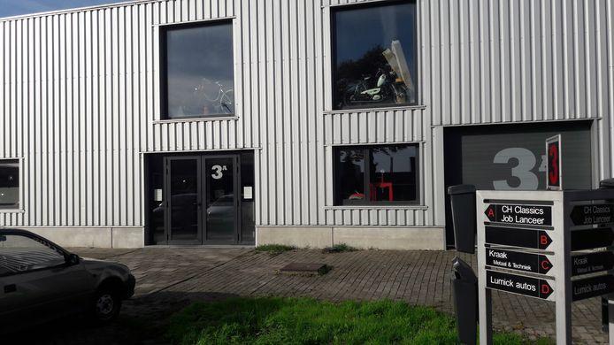 Het pand van CH Classics en Job Lanceer op bedrijventerrein Kellen in Tiel .