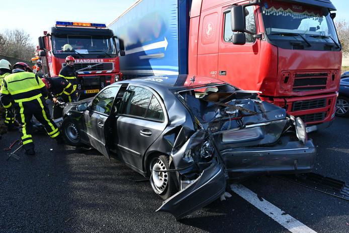 Ongeval bij Ulvenhout op A59