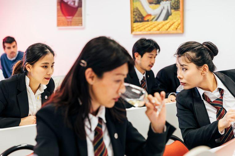 De meeste buitenlandse studenten komen uit China. Beeld Rebecca Fertinel
