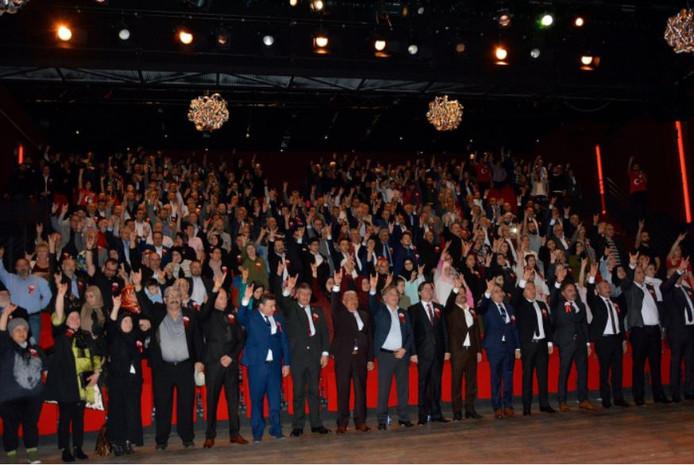 Bezoekers van de bijeenkomst in De Lindenberg in Nijmegen.