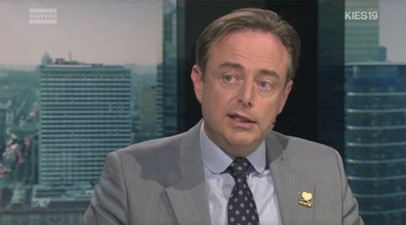 Bart De Wever gisteren in Terzake